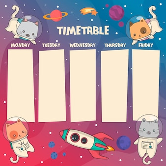 Cats timetable.