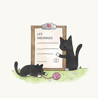 Cats with a life insurance