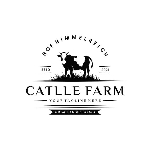 牛農場のビンテージロゴ