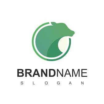 Логотип крупного рогатого скота с символом ангуса