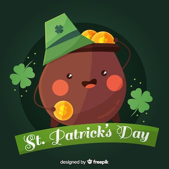 Cauldron smiling st patrick day background