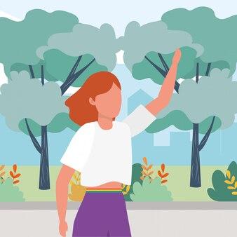 Causal people cartoon illustration