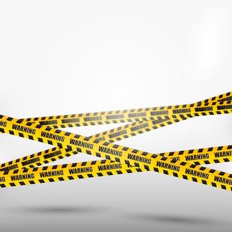 Осторожно и опасно ленты. предупреждающая лента.