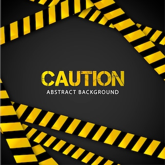 Caution background