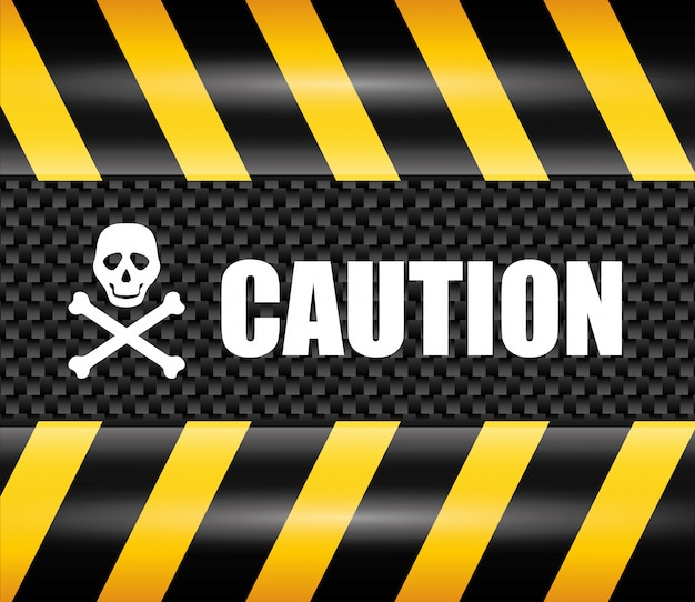 Caution design. illuistration