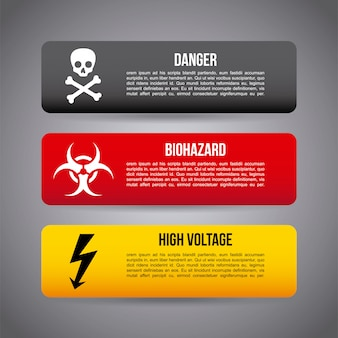 Caution infographics over gray background vector illustration