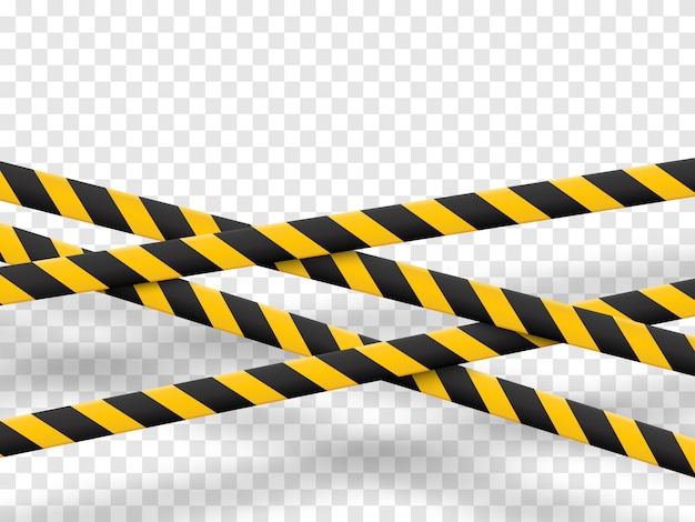 Caution lines isolated.
