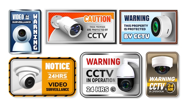 Caution protect cctv nameplates