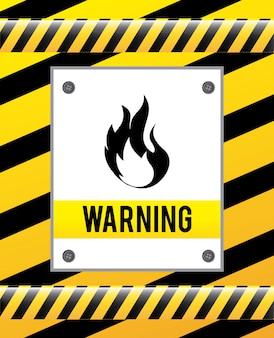 Segnale di avvertenza su giallo