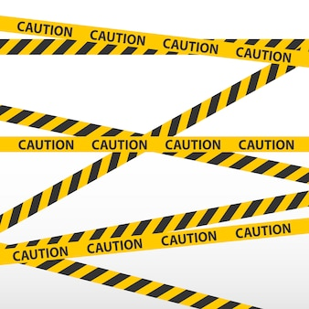 Caution tape, police line and danger tapes