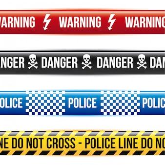 Caution tape over white background vector illustration