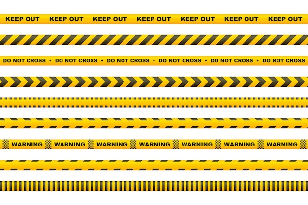 Caution tape with yellow and black stripes