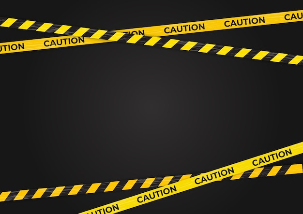 Caution warning lines, danger signs background