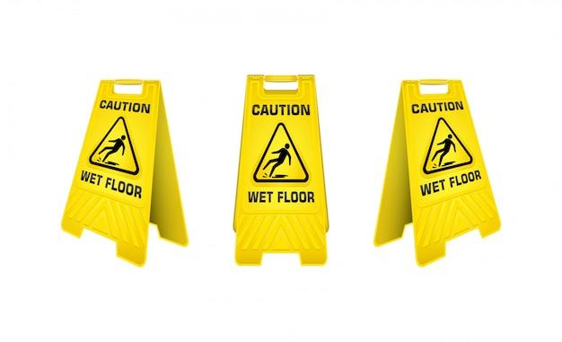 Осторожно, мокрый пол знак.