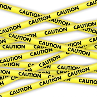 Caution yellow tapes