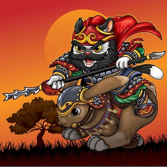 騎兵猫の図