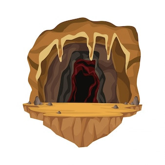 Cave interior scene in deep mountain