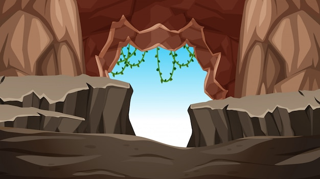 Cave with a entrance
