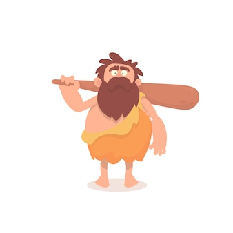 Caveman in cartoon style
