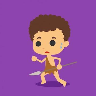 Caveman character vector
