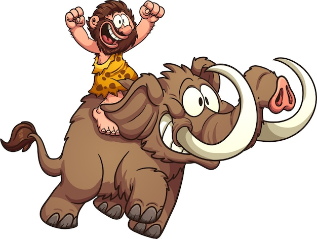 Caveman_riding_mammoth