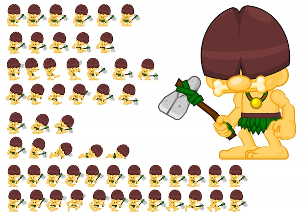 Cavemen game sprites