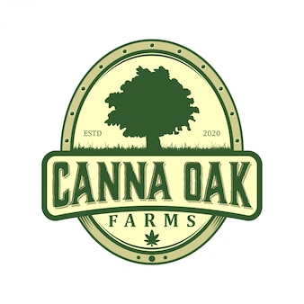 Cbd cannabidiolの法的治療、有効成分植物、成長企業のロゴ。