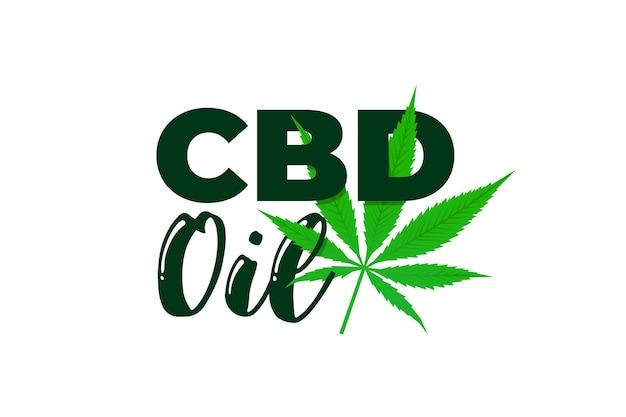 Cbd hemp oil of medical cannabis extract marijuana leaf icon product label design template vector
