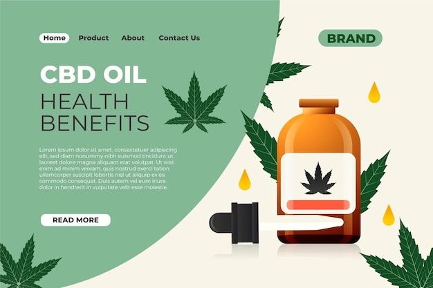 Cbd oil benefits landing page