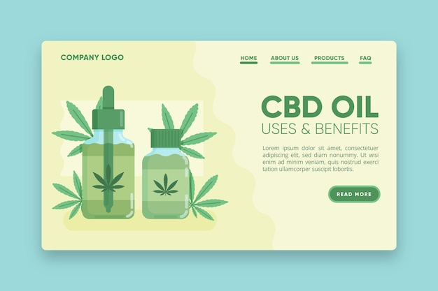 Cbd oil uses and benefits landing page