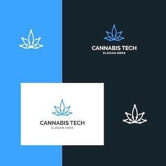 感動的なロゴcbd、マリファナ、大麻
