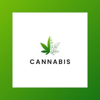 Вдохновляющий логотип cbd, марихуана, конопля