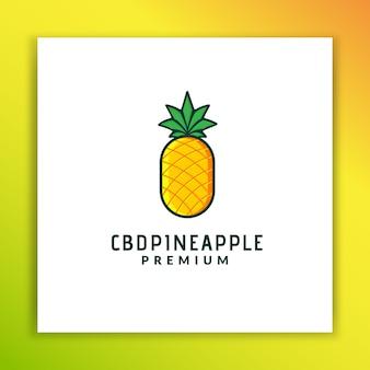 Cbdpineappleロゴデザイン