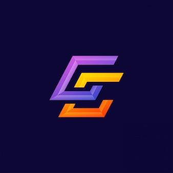 モノグラム手紙ccロゴデザインベクトルテンプレート