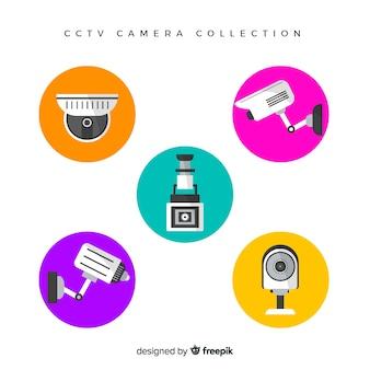 Коллекция камер cctv с плоским дизайном