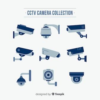 フラットなデザインのcctvカメラコレクション