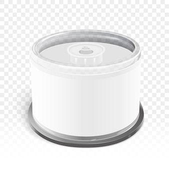 Cd container with blank label