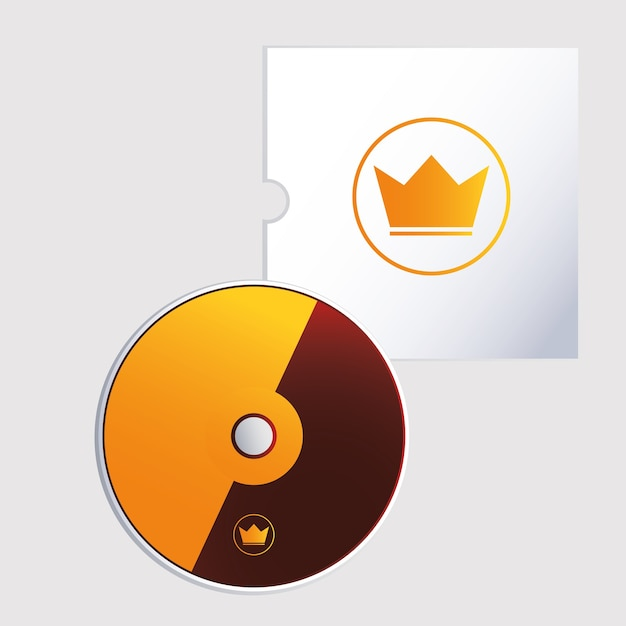 Cd, corporate identity template on white background illustration