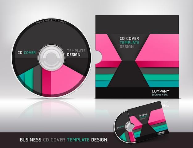 Шаблон оформления обложки компакт-диска.