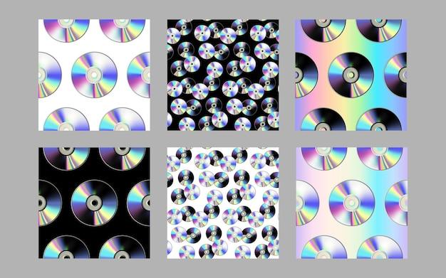 Cd диск бесшовные модели набор моды повторять фоны
