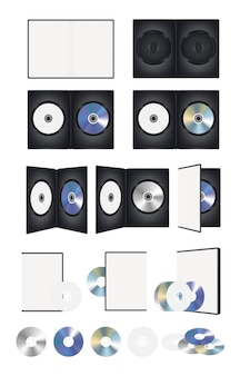 Cd-диск и набор дисков