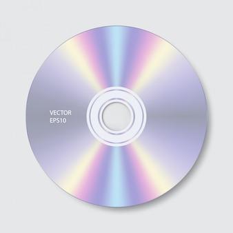 Изолировать cd на белом фоне
