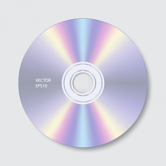 Cd isolate on white background