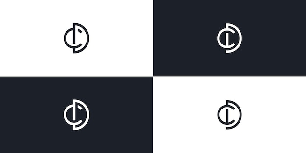 Cd letter initial logo vector icon illustration