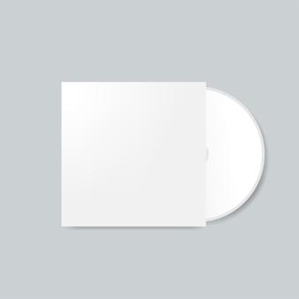 Cdカバーデザインモックアップベクター