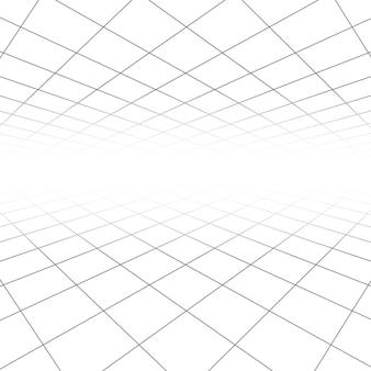 天井と床のタイルテクスチャ、遠近ビジョンの3 dライン抽象的な幾何学的な背景