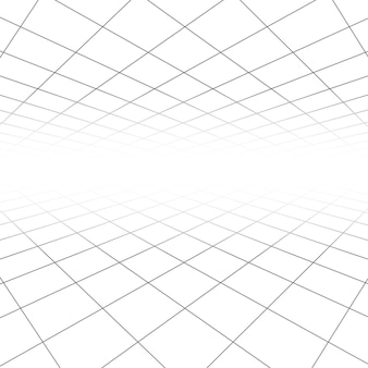 Ceiling and floor tile texture, 3d lines in perspective vision abstract geometric background