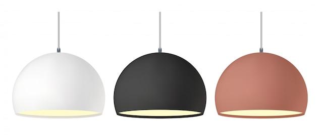 天井ハングランプライト。モダンな照明器具のペンダント