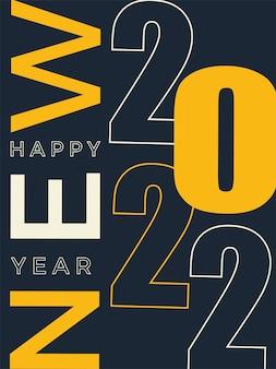 Celebrate happy new year greeting banner logo illustration