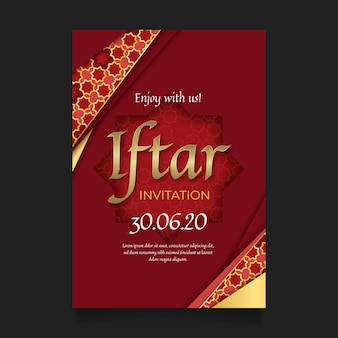 Celebrate indian iftar party realistic invitation